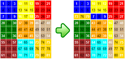 Nine Faces Flat Rubik Puzzle example